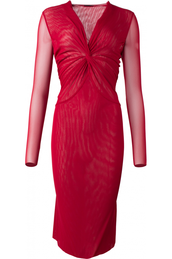 raffiniertes Kleid mit geraffter Verknotung