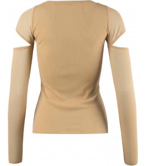 raffiniertes Shirt mit Ärmelquerschlitzen