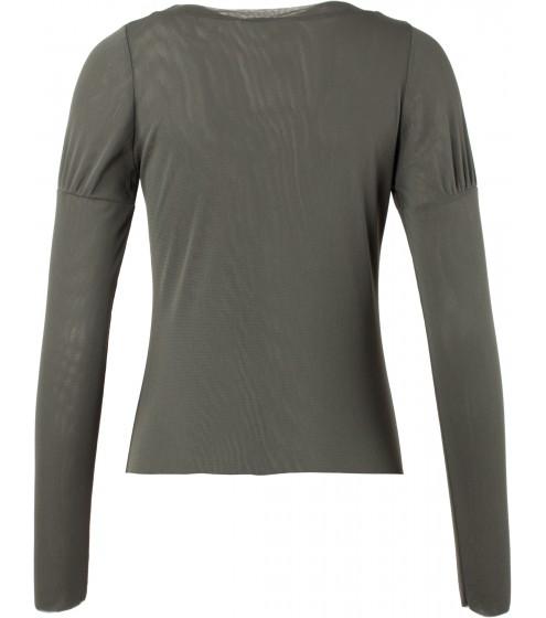 Shirt langarm mit Burgfräuleinärmeln