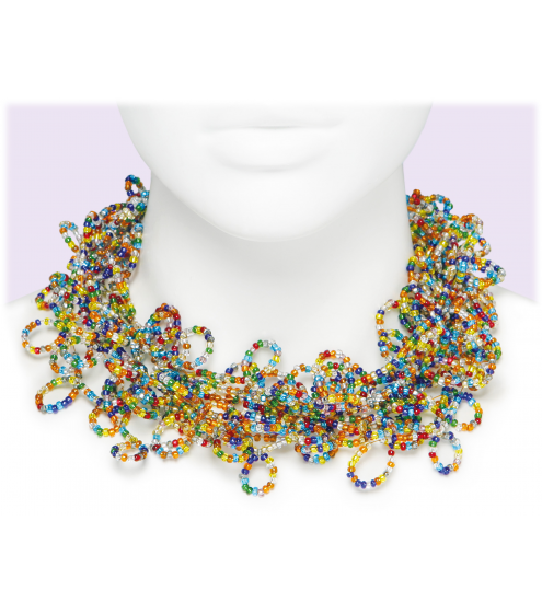 Collier in Multicolor mit hunderten Schlaufen