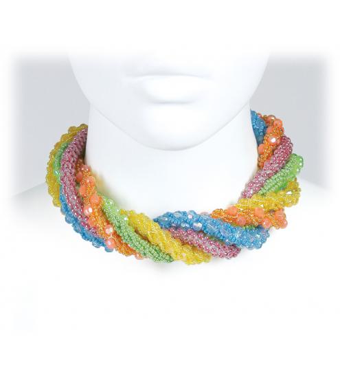 Wunderschönes Halsband in erfrischender Farbkombination