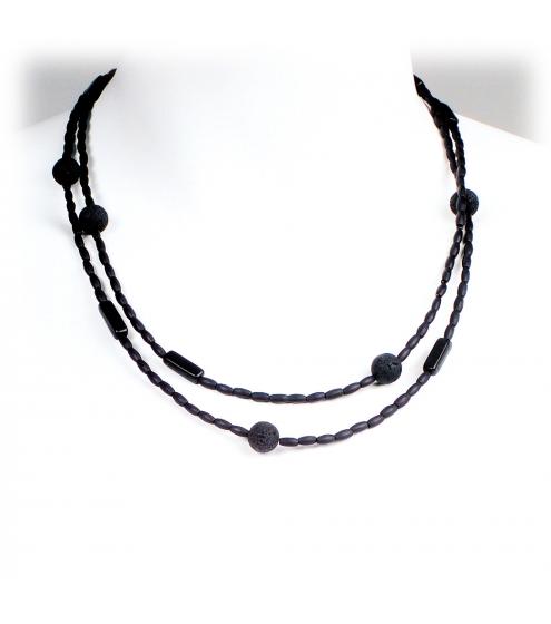 Dezente Basic-Kette aus verschiedenen Perlen