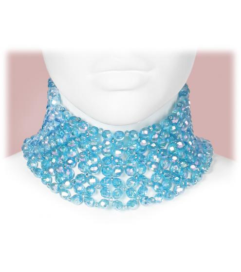 Besonders dekoratives Halsband aus antiken Glasperlen