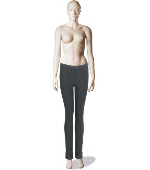 Extra schmale Stretch-Hose mit breiten Aufschlägen